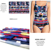 Polyester Spandex Printed Swimwear/ Jersey Dress Fabric