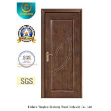 Porte de MDF de conception chinoise pour l'intérieur avec la couleur brune (xcl-011)