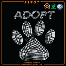 White Adopt paw transfers for t shirts wholesale