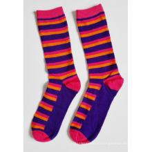 Chaussettes en coton à rayures pour femmes