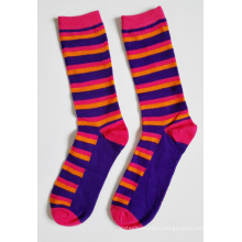 Women Fashion Strip Cotton Socks