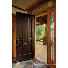 Puerta interior de madera maciza de estilo tradicional