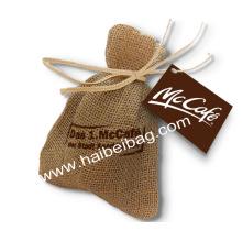 Sac de jute à cordon personnalisé, sac à provisions en toile de jarret, sac à main de chanvre (JDB-2)