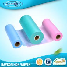 Importação do produto da matéria prima 100% não tecida do polipropileno de China para guardanapo sanitários