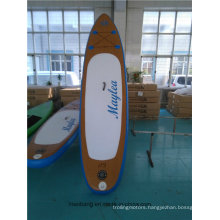 Wood Color Soft Surfboard Paddle Board