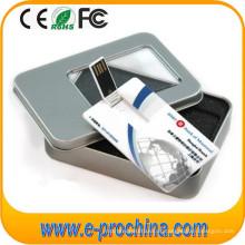 Movimentação por atacado do flash de USB do cartão de crédito da movimentação de cartão de USB para a amostra grátis