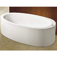 Oval One-Piece Acrylic Bathtubs Freestanding Bathtub