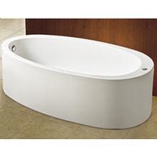 Banheira acrílica oval com banheira de acrílico de uma peça