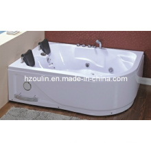 Square White Acrylic Sanitary Whirlpool Massage Bathtub (OL-631)
