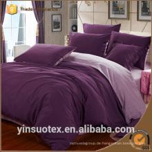 100% Polyester 70-120g einfache Farbe doppelseitige Bettwäsche gesetzt Großhandel billig