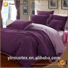 100% poliéster 70-120g de color liso cama doble ropa de cama conjunto al por mayor barato