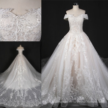off Shoulder Beading Lace Prom Wedding Bridal Dress St7010