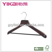 Cache-manteau en bois Guangxi avec un crochet en chromate unique en arc