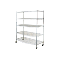 display chrome wire shelf