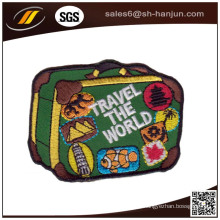 Hochwertiges spätestes kundengebundenes Stickerei-Flecken-Klettunterstützungsflecken