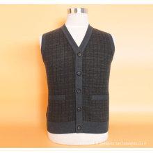 Gilet Yak en laine / Cachemire à col V profond pour hommes / Vêtement / Vêtements / Tricots