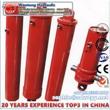 Coluna de cilindros hidráulicos telescópicos de ação simples