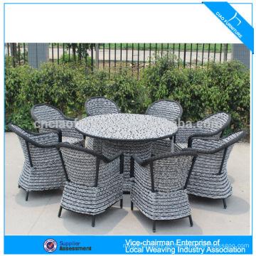 Venda quente do jardim do rattan jantar conjunto de lazer ao ar livre móveis de vime