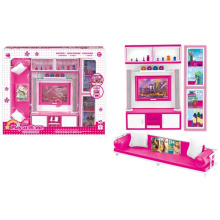 Plastic Pretend Play Set Dolls House Set with Light