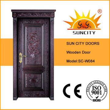 Interior MDF Flush Furnierte Holztüren für Wohnung (SC-W084)