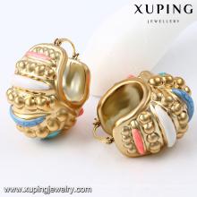 92295-Xuping barato brinco banhado a ouro jóias da orelha das mulheres para africano
