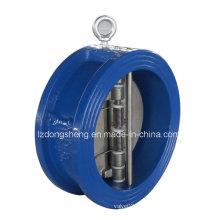 Válvula de retenção de disco dupla disco Wafer tipo ferro fundido