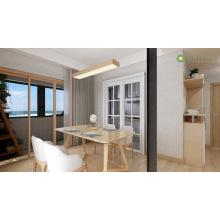 Mesa de jantar e cadeira de madeira maciça de nogueira leve