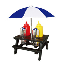 6pcs BBQ picknick tabell condiment set