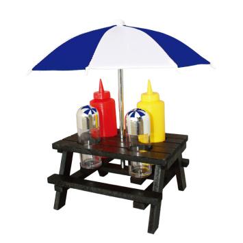 6pcs BBQ picnic tabel condiment set