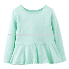 Girls' long-sleeved shirt, soft and warmth, comfortable, OEM orders welcomed