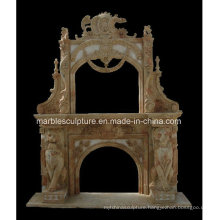 New Design Double Marble Fireplace (SY-MF205)