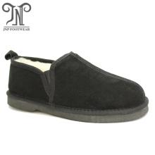 Дизайн наружных туфель из овчины для мужских тапочек