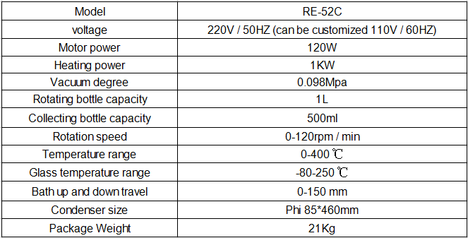 1L laboratory rotary evaporator