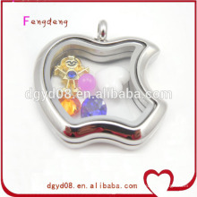 Novelty apple design silver locket for women