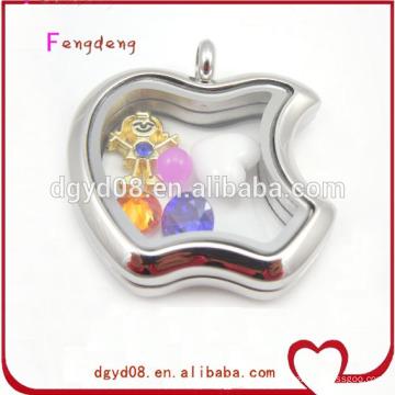 Novelty apple design silver locket for women