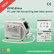 2000W remoção poderosa IPL cabelo e Qswitch ND YAG tatuagem remover a máquina