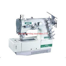 Flat-bed interlock with 4-needle and 6-thread sewing machine