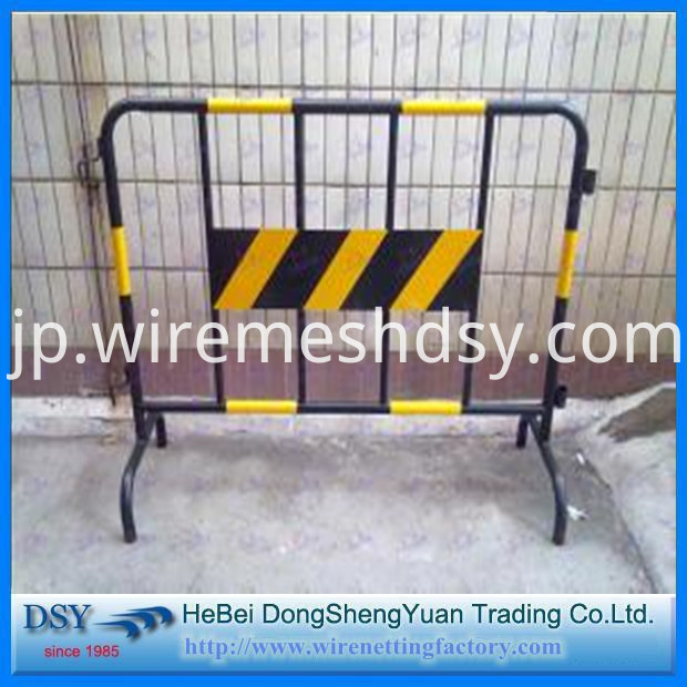 Pvc Yellow&Black Color Coated Movable Temporary Fence