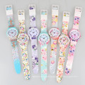 multi color charm ladies flower watch cheap, silicone jelly watch