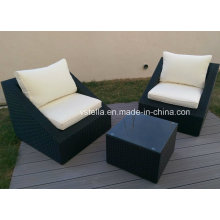 Outsunny 3-Piece Outdoor Stacking Rattan Wicker Patio Chair
