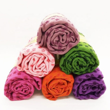 JW High Quality Fitness Anti Slip Yoga Mat Towel Sport Absorbent Mictofiber Fabric Yoga Towel with mesh bag