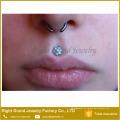 Venda quente Body Piercing Surgical Aço Prong Set Flor Opala Lip Ring Labret Studs