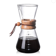 with Borosilicate Glass Carafe and Reusable Stainless Steel Permanent Filter Manual Coffee Dripper Brewer Pour Over Coffee Maker