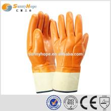 Sunnyhope Luvas fluorescentes de segurança resistentes ao óleo pvc