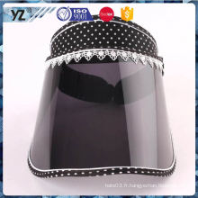 Vente chaude de conception personnalisée chapeau de pare-soleil en plastique à chaud