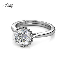 Luxury 925 Sterling Silver 6.5mm 1 Carat Gra Moissanite Diamond Le Fond Solitaire Engagement Ring
