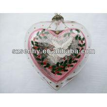75мм в форме сердца стеклянный шар с ангел внутри