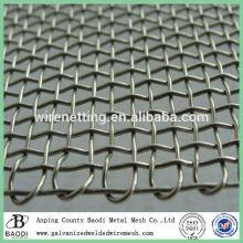 woven square wire grid galvanized crimped mesh