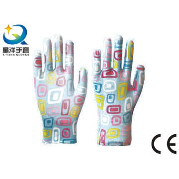 Garden Gloves Nitrile Coated, Labor Protective Safety Work Gloves (N6049)