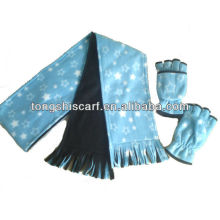 double layer winter fleece scarf